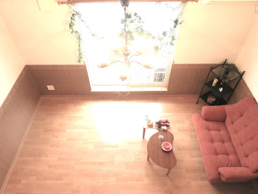 お部屋を上から見たところ。落ち着いた雰囲気です。_7813