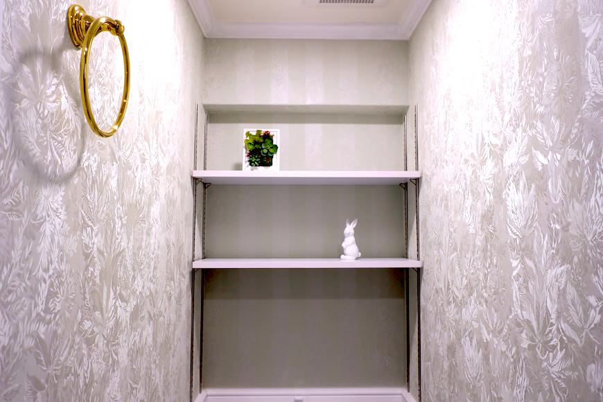 トイレ5 【キャッスル東栄】 フレンチブルーがアクセント。 優雅でクラシカルなお部屋。