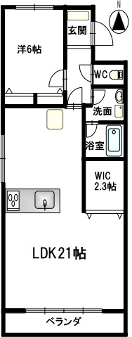 キャッスル東栄 202 間取図_202