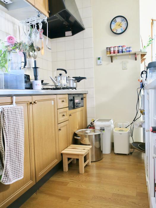 1F キッチン内の景色。ウッディなキッチンが自然でおしゃれです。ユーカリの木かげにて リッチな暮らしが叶う家。 Ladies only【ユーカリの木の家】
