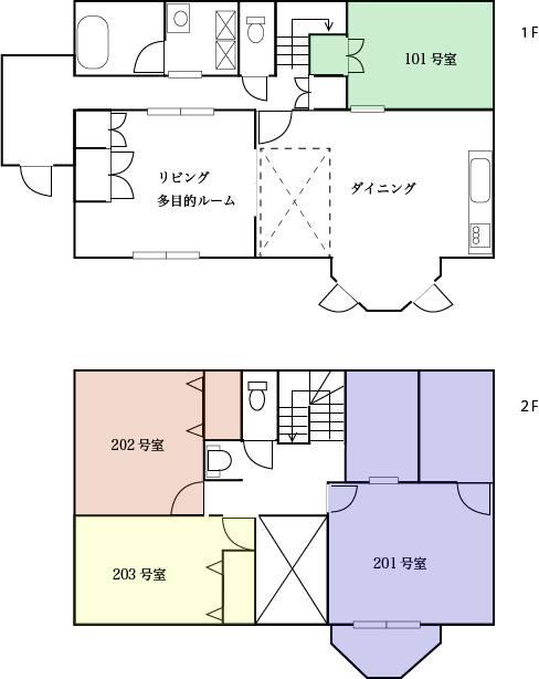 ユーカリの木の家_フロア図面