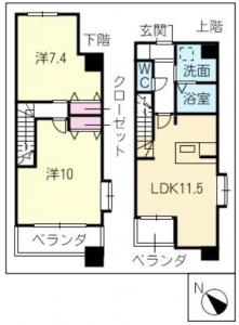 間取図_201号室