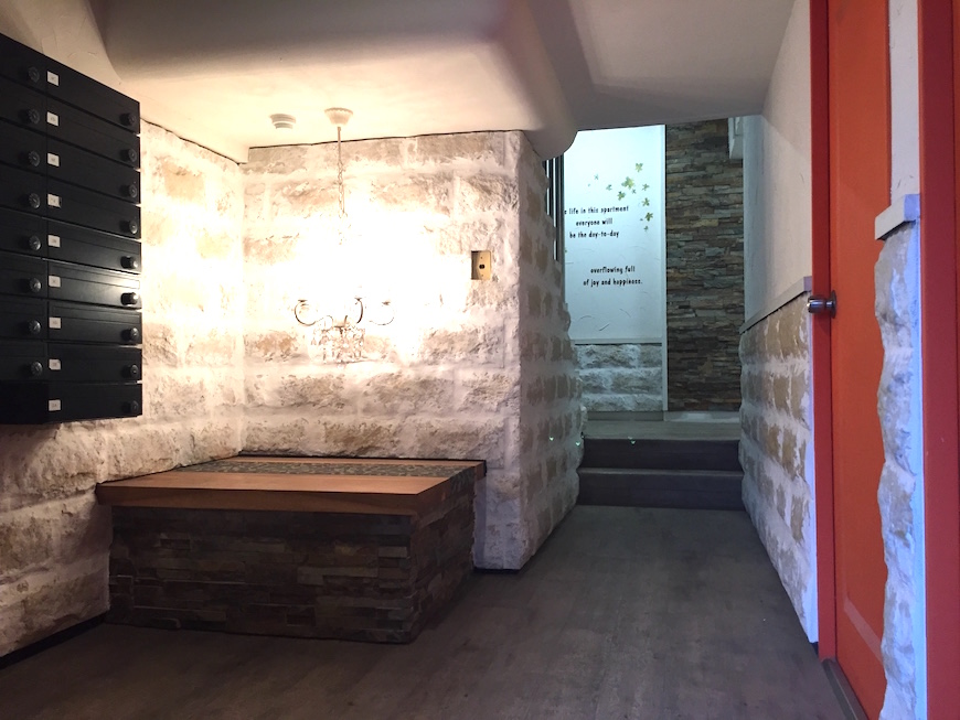 ナゴヤマンション今池エントランス おしゃれリノベなお部屋が満載なマンション。