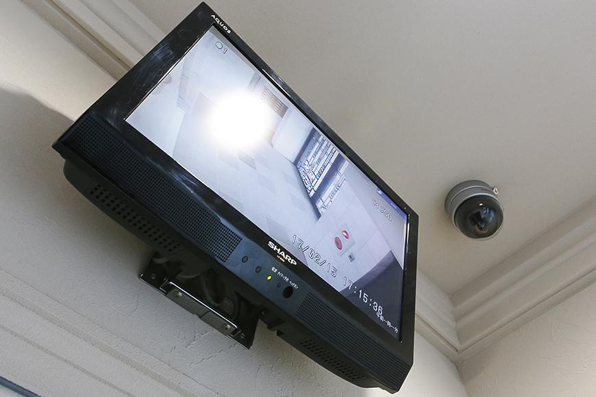 エントランスホールにはカメラモニター。_MG_9478
