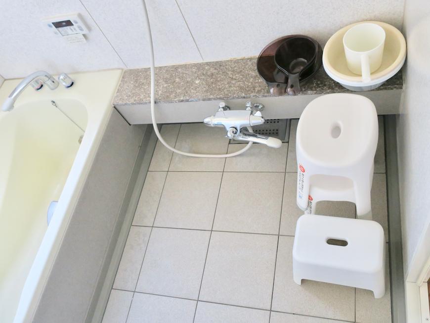 1F バスルーム 洗い場も広々ゆったりユーカリの木かげにて リッチな暮らしが叶う家。 Ladies only【ユーカリの木の家】