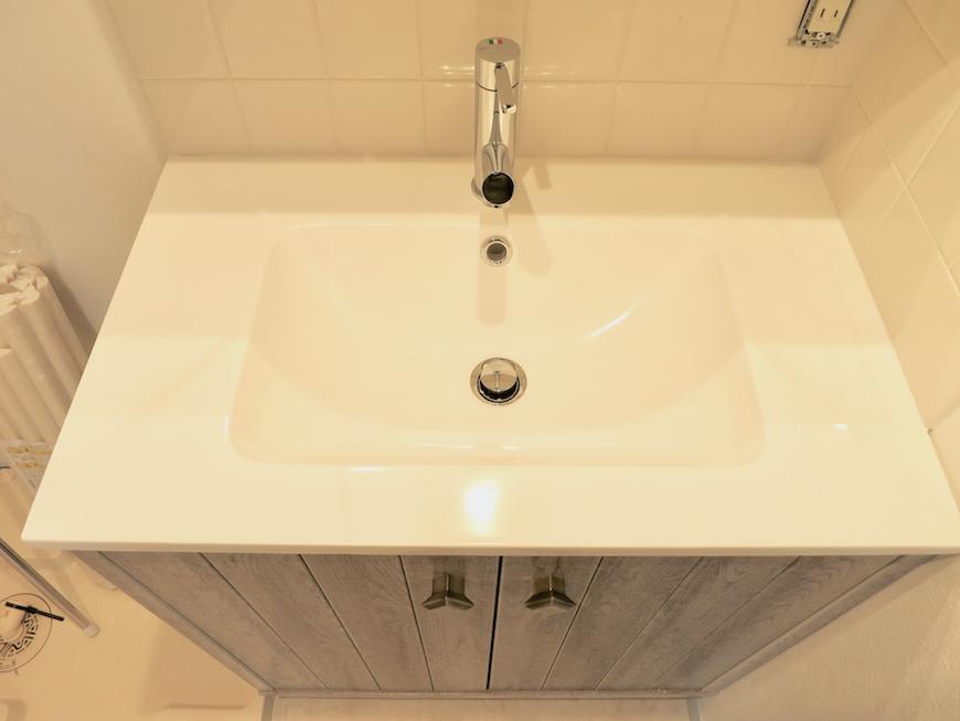 プリマノッツェ西尾 壱番館 バスルーム 洗面化粧台 2