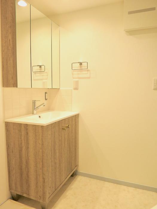プリマノッツェ西尾 壱番館 バスルーム 洗面化粧台1
