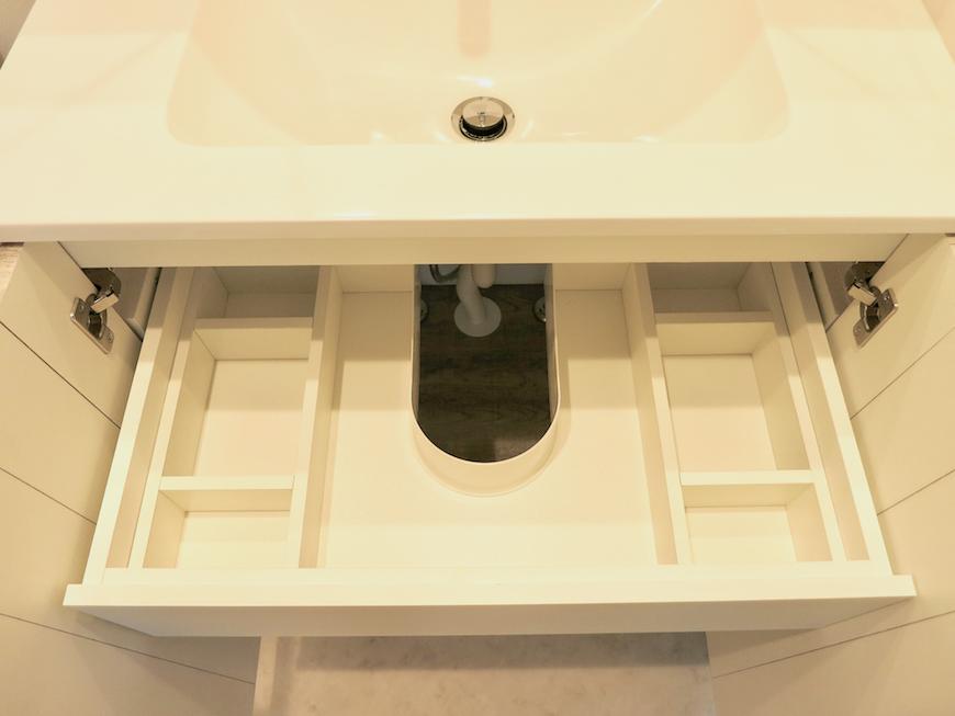 プリマノッツェ西尾 壱番館 バスルーム 洗面化粧台 収納 1