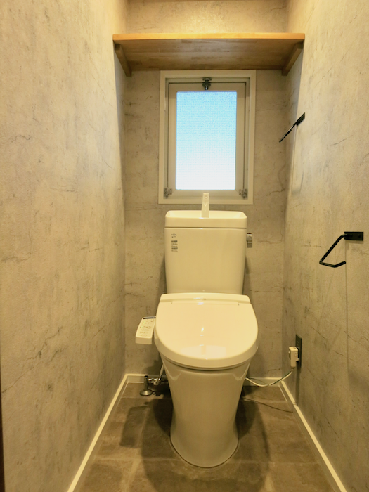 7E  バスルーム インダストリアル  クール!トイレはコンクリート打ちっ放し風2