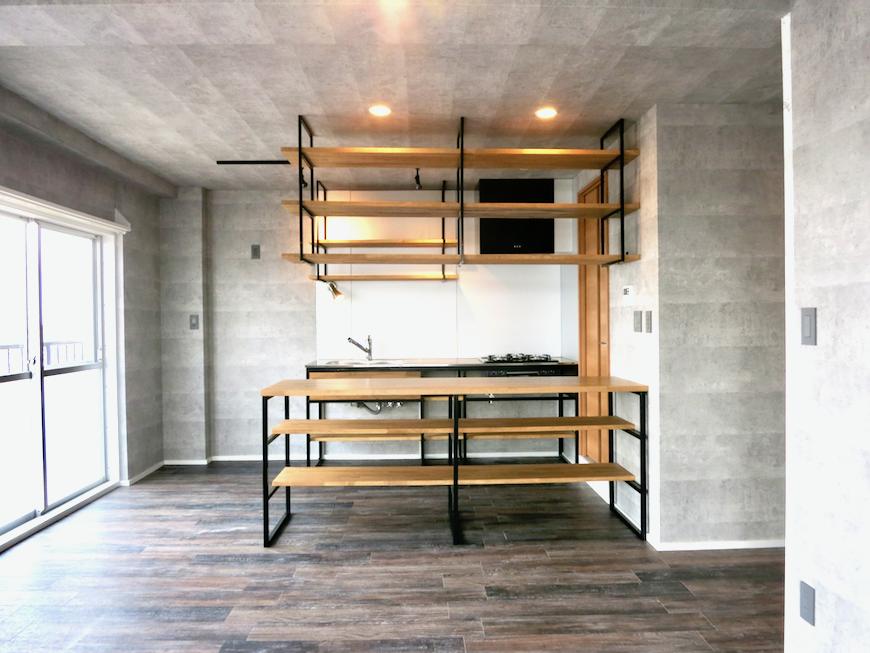7F インダストリアル スタイル 美しいフレーム キッチン4