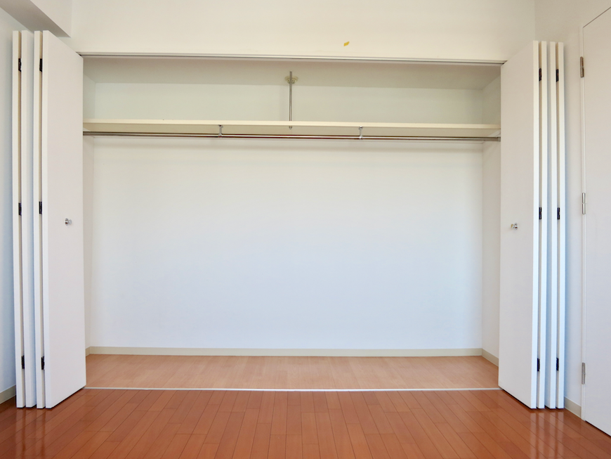 グラン・アルファ307  洋室6.8帖 大容量の収納スペース。