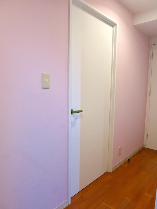 グラン・アルファ307 玄関まわり。ピンクが可愛い玄関周り♪