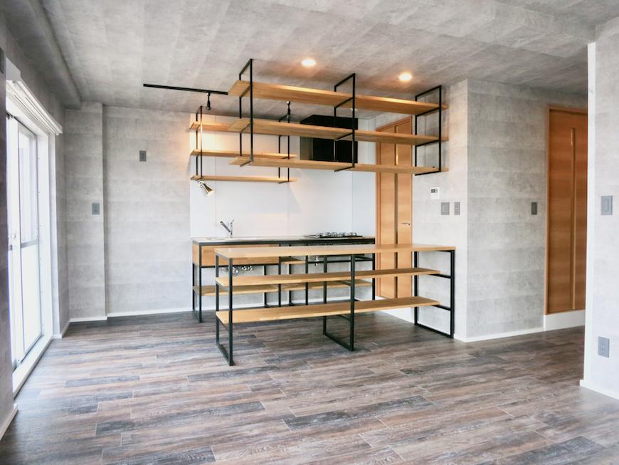7F インダストリアル スタイル 美しいフレーム キッチン7