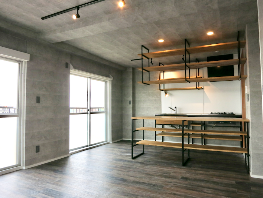 7F インダストリアル スタイル 美しいフレーム キッチン5