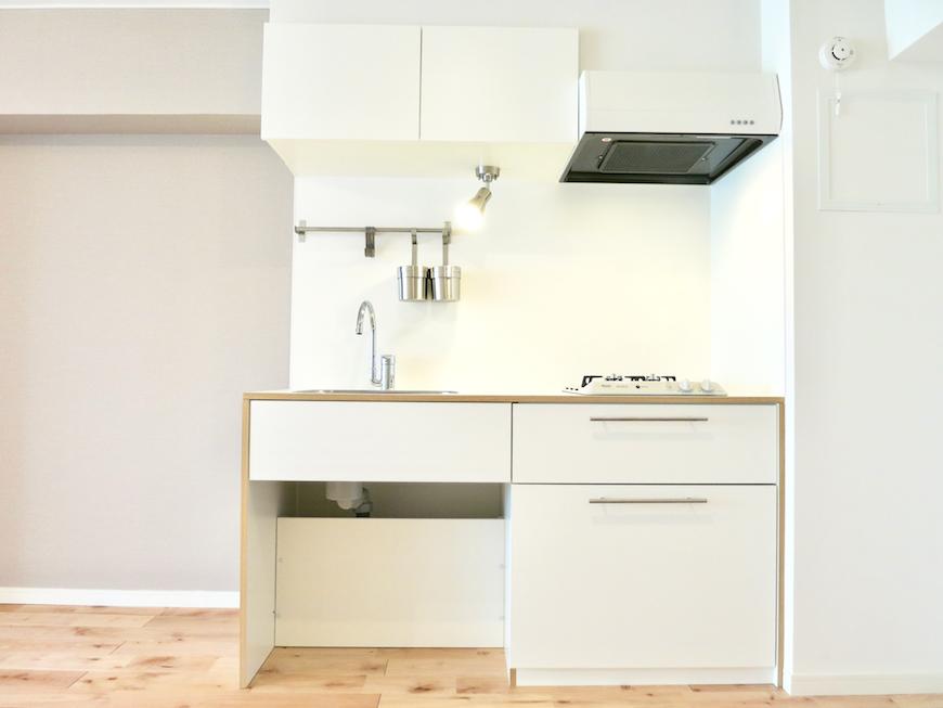 白いキッチン・ホワイト・ナチュラル・シンプル♪東海御園ハイツ 8