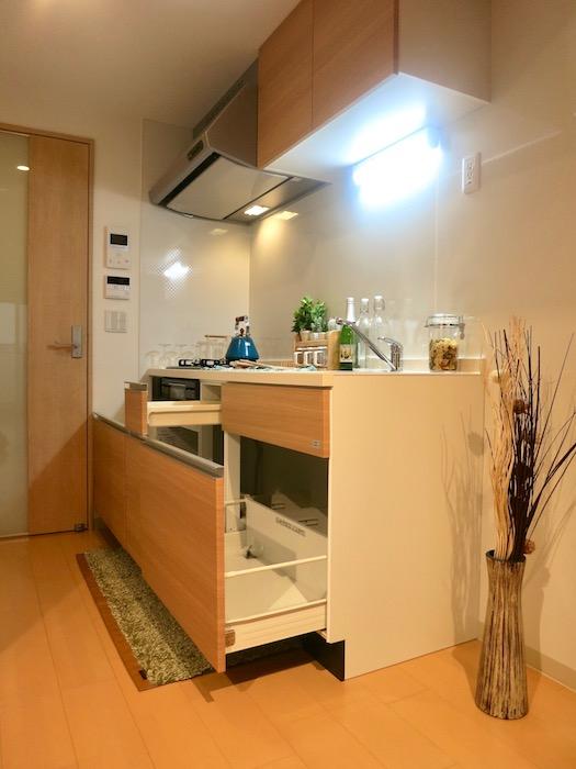 ラヴィータ泉 Aタイプ20 キッチン台の下には収納スペースあります。