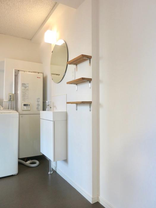 7A ナゴヤマンション今池  バスルーム おしゃれな洗面化粧台1