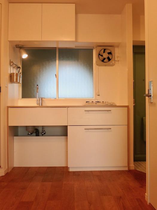 7C ナゴヤマンション今池 ナチュラルホワイトの可愛いキッチン TOMOS 1