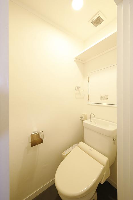 【内観】TOMOS江南_水回り_頭上に棚も完備のトイレです_MG_6991