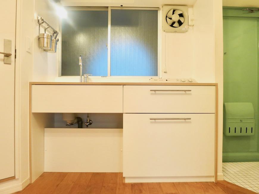7C ナゴヤマンション今池 ナチュラルウッドな枠があるキッチン TOMOS 1