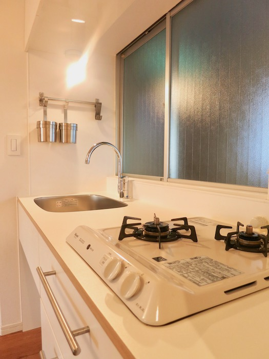 7C ナゴヤマンション今池 ナチュラルホワイトの可愛いキッチン TOMOS 6