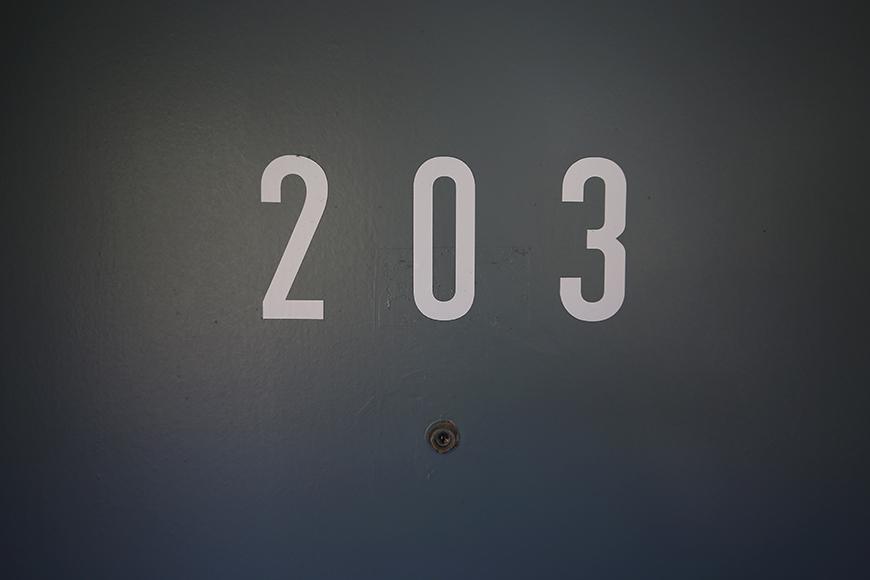 【Reno Base motoyama_203号室】外観_玄関ドア_MG_7325