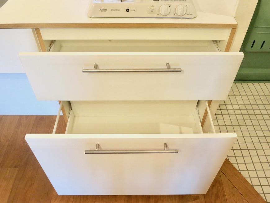 7C ナゴヤマンション今池 ナチュラルホワイトの可愛いキッチン TOMOS 8