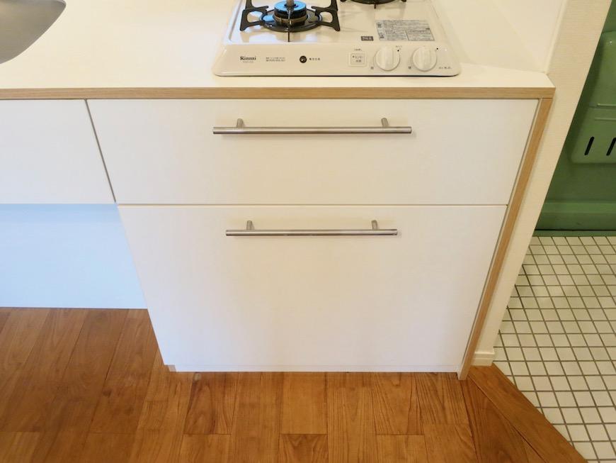 7C ナゴヤマンション今池 ナチュラルホワイトの可愛いキッチン TOMOS 7