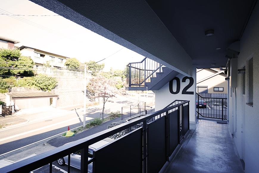 【Reno Base motoyama_203号室】外観_廊下共有スペース_MG_7330
