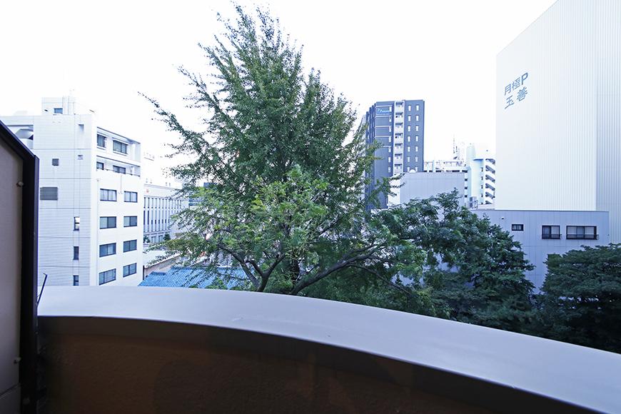 【TOMOS丸の内】ベランダの目の前に木が一本だけ_MG_7942
