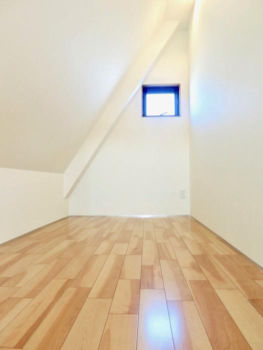 AZUR JOSAI 5B 三角形の壁がお洒落な 立てるロフト0