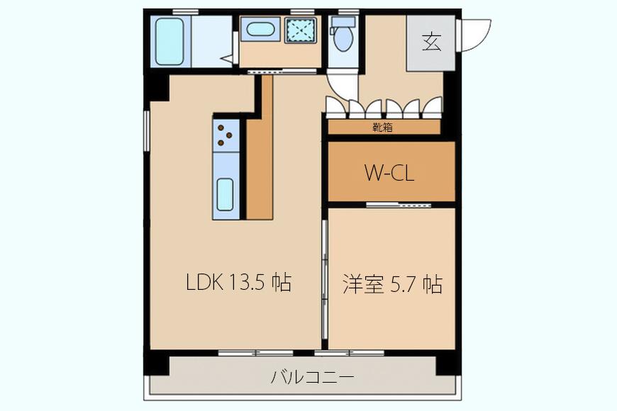 【メゾン千種】201号室_間取り図