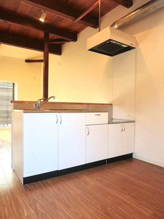 グランスイート黒川テラス 103号室  ホワイトでスッキリしたキッチン台3