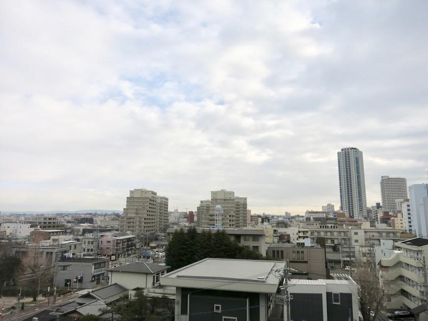 TOMOS Imaike (ナゴヤマンション今池)ベランダからの眺め。7B24