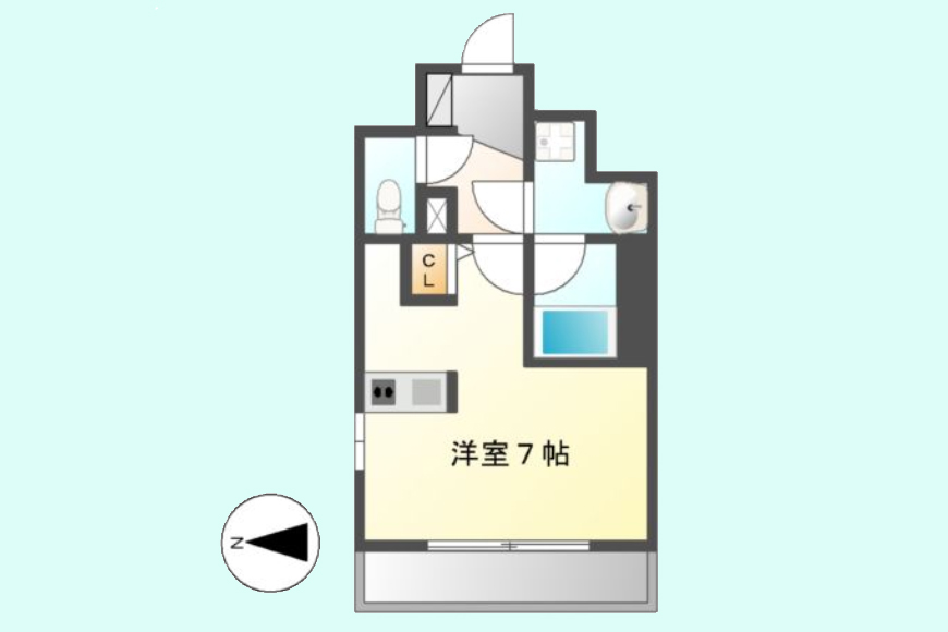【スクエア・アパートメント】907号室_間取り図