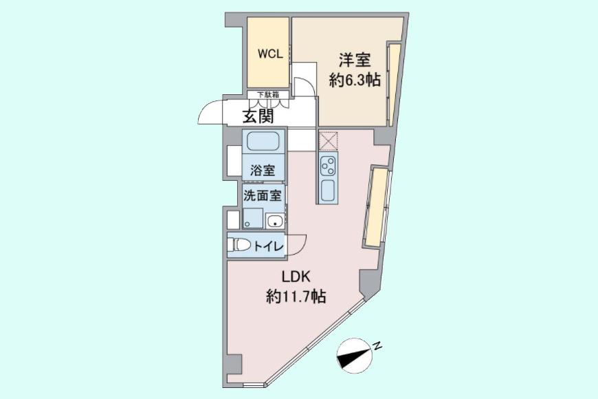 【MIYAKODORI bldg】501号室_間取り図