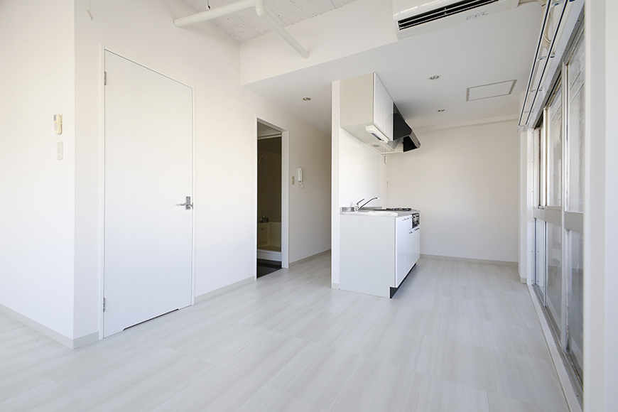 【MIYAKODORI bldg】LDK_キッチンへの眺め_MG_3745