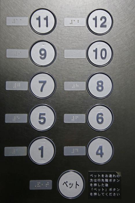 【スクエア・アパートメント】エレベータ周り_ペットOKの物件です!_MG_3326