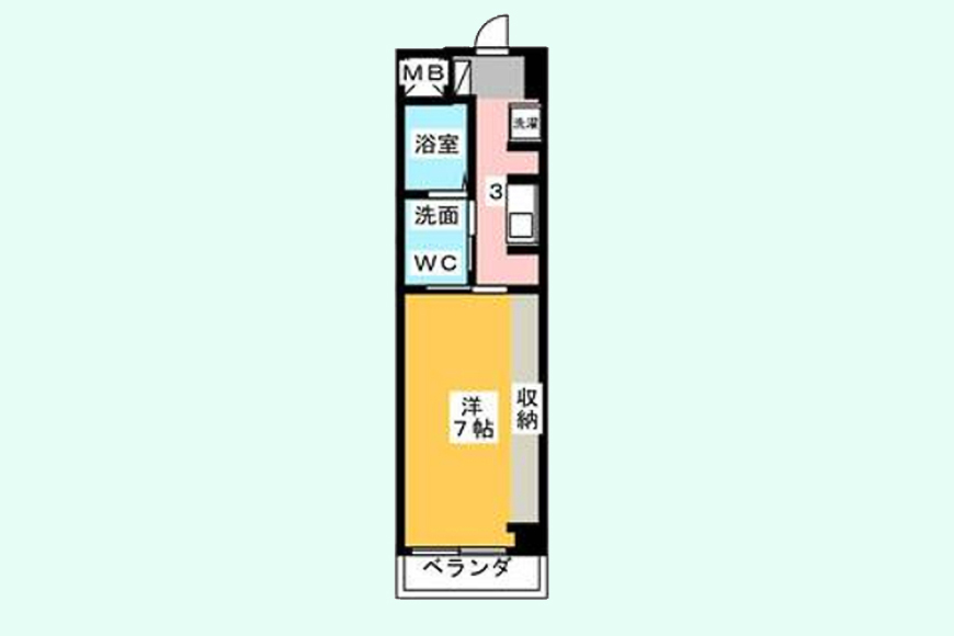 【Space T】204号室_間取り図