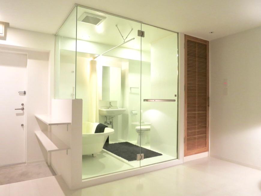 FLATS GAZERY 603号室  オブジェのようなバスルーム。どこを見ても美しい空間です。23