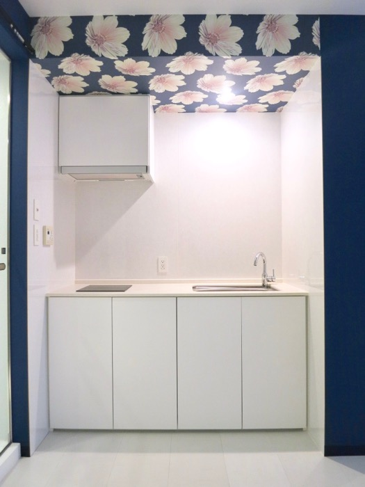 FLATS GAZERY  409号室。桜咲くキッチンスペース。1