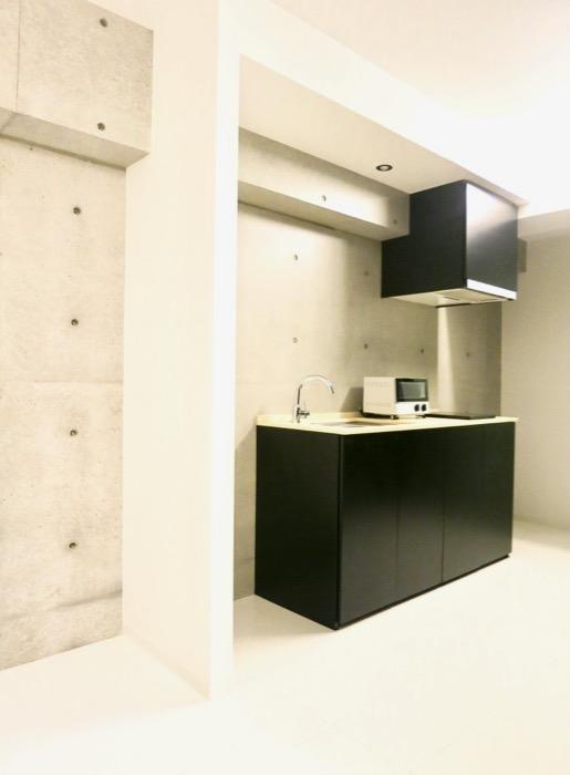 FLATS GAZERY 603号室  どこを見ても美しい空間です。キッチンスペース。