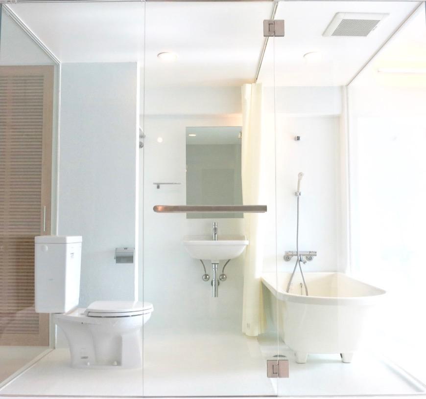 FLATS GAZERY 608号室 美しいオブジェのようなバスルーム。IMG_3983