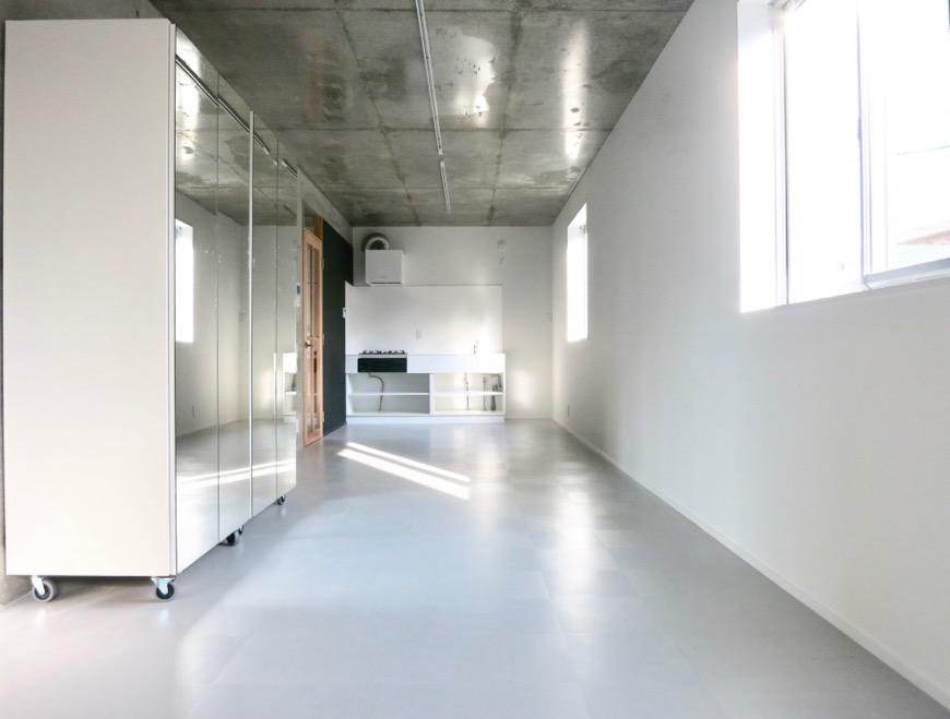 白壁ふたば荘 B,Dtype ギャラリーのようにシンプルな空間。