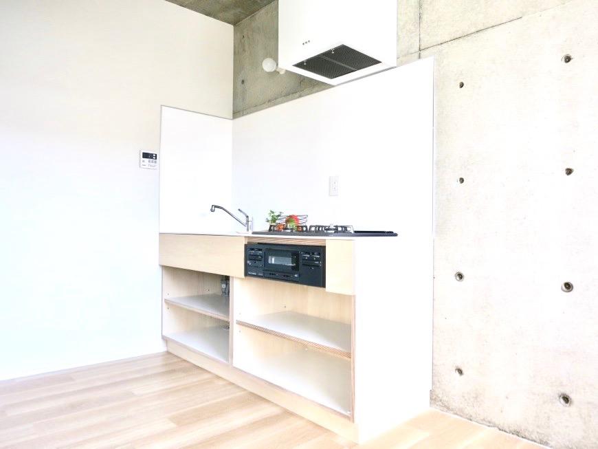 白壁ふたば荘 Ctype G号室 可愛いキッチン台。