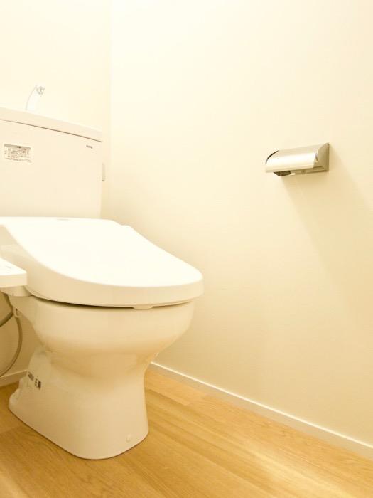 白壁ふたば荘 Atype/Ctype 共通サニタリールーム トイレ。