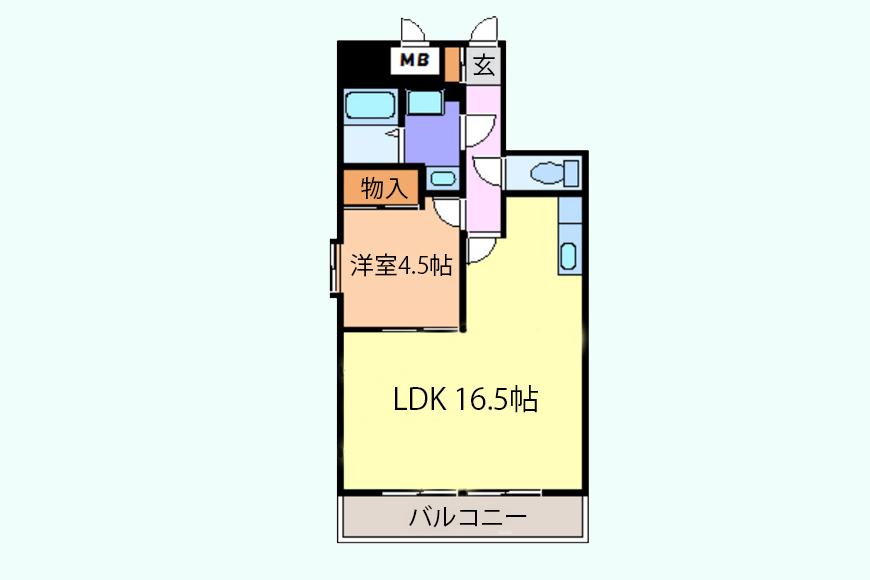 【シャンブルナルカワ】7A・8A号室_間取り図