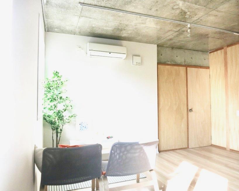 白壁ふたば荘 Ctype G号室 ダイニングからの景色。日当たり良好。