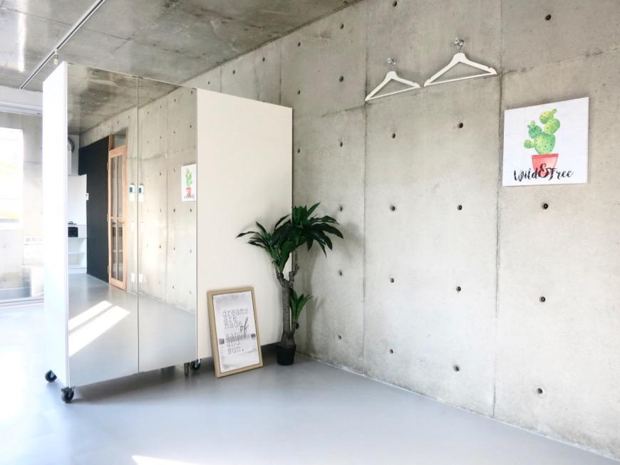 白壁ふたば荘 B,Dtype コンクリートの壁は大きなキャンバス。