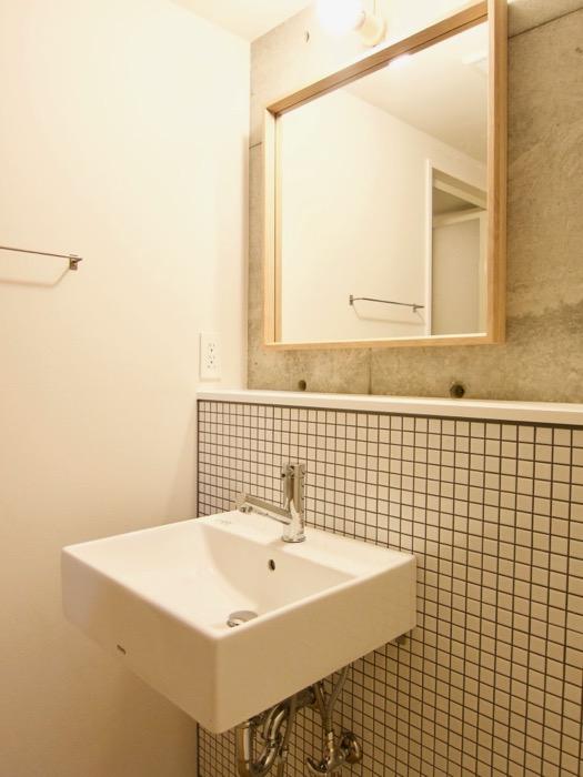 白壁ふたば荘 Atype/Ctype 共通サニタリールーム レウアウトが素敵な空間。
